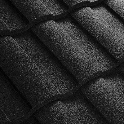 Композитная черепица Metrotile (Бельгия) MetroRoman черная
