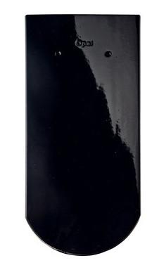 Керамическая черепица Braas (Германия) профиль Опал (бобровый хвост) глазурь черный бриллиант