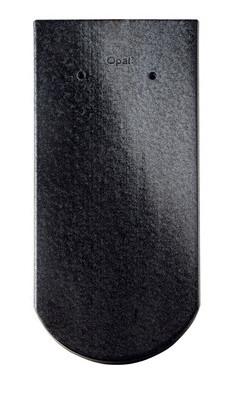 Керамическая черепица Braas (Германия) профиль Опал (бобровый хвост) глазурь черный кристалл