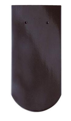 Керамическая черепица Braas (Германия) профиль Опал (бобровый хвост) глазурь глубокий черный
