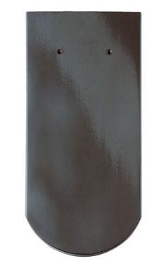 Керамическая черепица Braas (Германия) профиль Опал (бобровый хвост) глазурь королевский серый