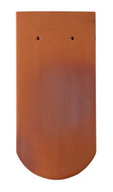 Керамическая черепица Braas (Германия) профиль Опал (бобровый хвост) ангоб красное пламя