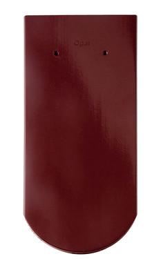 Керамическая черепица Braas (Германия) профиль Опал (бобровый хвост) глазурь красный бук
