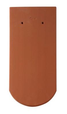 Керамическая черепица Braas (Германия) профиль Опал (бобровый хвост) натуральная красная