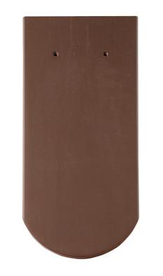 Керамическая черепица Braas (Германия) профиль Опал (бобровый хвост) ангоб темно-коричневая