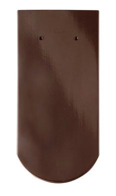 Керамическая черепица Braas (Германия) профиль Опал (бобровый хвост) глазурь тик