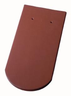 Керамическая черепица Wienerberger (Германия) профиль Biber Eisenberg (бобровый хвост) эдельангоб maron