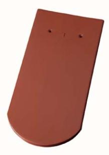 Керамическая черепица Wienerberger (Германия) профиль Biber Langenzenn (бобровый хвост) эдельангоб edelrot