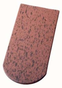 Керамическая черепица Wienerberger (Германия) профиль Biber Langenzenn (бобровый хвост) ангоб fleckton
