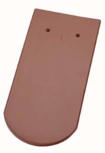 Керамическая черепица Wienerberger (Германия) профиль Biber Langenzenn (бобровый хвост) ангоб kupferbraun