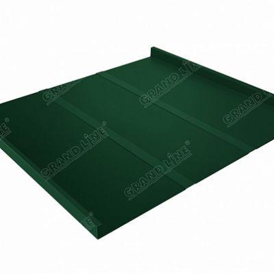 Фальцевая кровля Grand Line Фальц двойной стоячий Профи Satin 0,5 мм. RAL 6005 (зеленый мох)