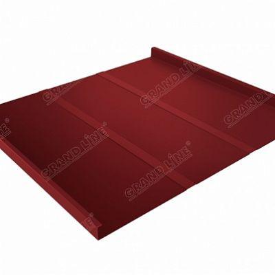 Фальцевая кровля Grand Line Фальц двойной стоячий Профи Satin 0,5 мм. RAL 3011 (коричнево-красный )