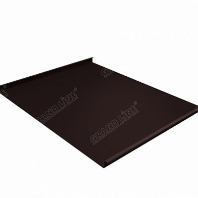 Фальцевая кровля Grand Line Фальц двойной стоячий Velur20 0,5 мм. RAL 8017 (коричневый шоколад)