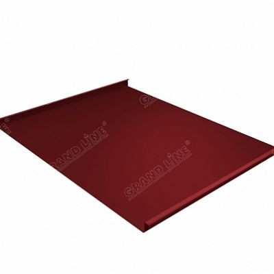 Фальцевая кровля Grand Line Фальц двойной стоячий Satin 0,5 мм. RAL 3011 (коричнево-красный )