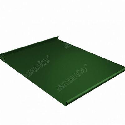 Фальцевая кровля Grand Line Фальц двойной стоячий PE 0,45 мм. RAL 6002 (зеленый лист)