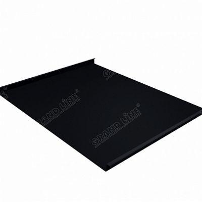 Фальцевая кровля Grand Line Фальц двойной стоячий Quarzit lite 0,5 мм. RAL 9005 (черный темный)