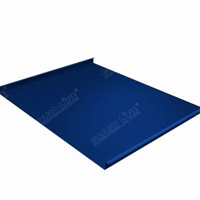 Фальцевая кровля Grand Line Фальц двойной стоячий Satin 0,5 мм. RAL 5005 (синий насыщенный)
