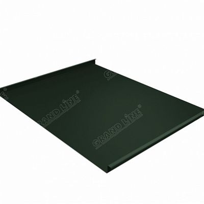 Фальцевая кровля Grand Line Фальц двойной стоячий Velur20 0,5 мм. RAL 6020 (зеленый хром)