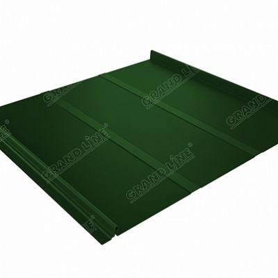 Фальцевая кровля Grand Line Кликфальц Профи PE 0,45 мм. RAL 6002 (зеленый лист)