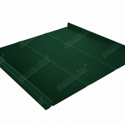 Фальцевая кровля Grand Line Кликфальц Профи Velur20 0,5 мм. RAL 6005 (зеленый мох)