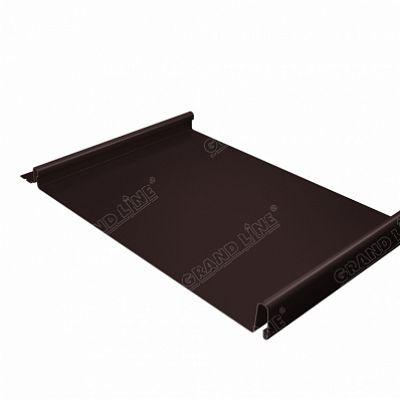 Фальцевая кровля Grand Line Кликфальц Quarzit matt 0,5 мм. RAL 8017 (коричневый шоколад)