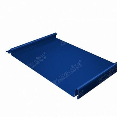 Фальцевая кровля Grand Line Кликфальц Satin 0,5 мм. RAL 5005 (синий насыщенный)