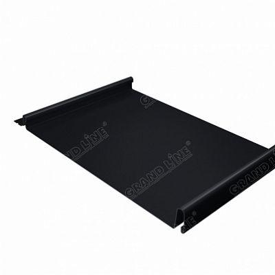 Фальцевая кровля Grand Line Кликфальц Velur20 0,5 мм. RAL 9005 (черный темный)