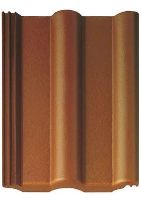 Цементно-песчаная черепица Браас (Россия) Франкфуртская цвет коричневый