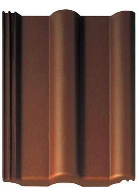 Цементно-песчаная черепица Braas (Россия) Франкфуртская цвет темно-коричневый