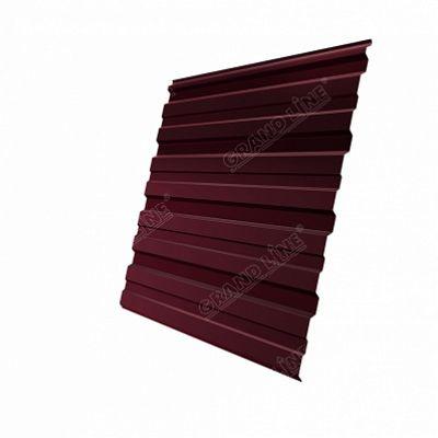 Профнастил С8 Grand Line PE, цвет RAL 3005 красное вино