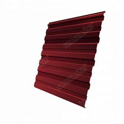 Профнастил С10 Grand Line PE, цвет RAL 3011 коричнево-красный