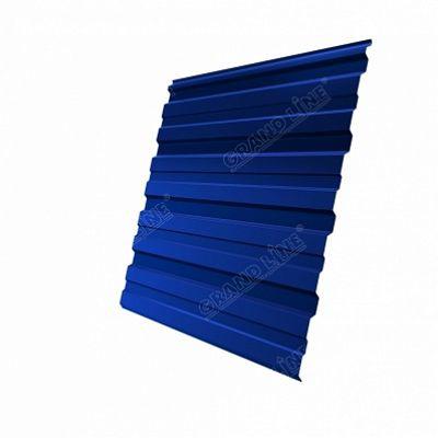 Профнастил С8 Grand Line PE, цвет RAL 5005 синий насыщенный