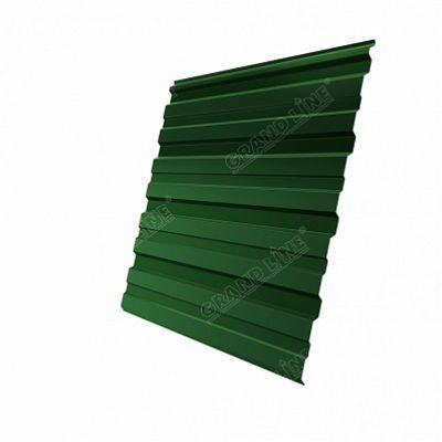 Профнастил С8 Grand Line PE, цвет RAL 6002 зеленый лист