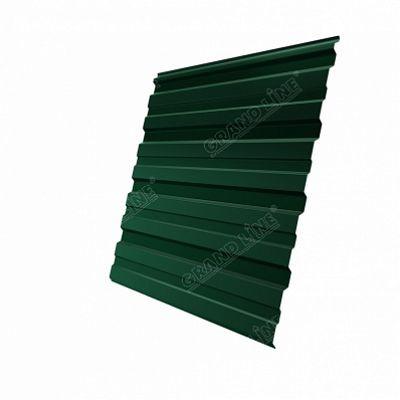 Профнастил С10 Grand Line Quarzit lite, цвет RAL 6005 зеленый мох