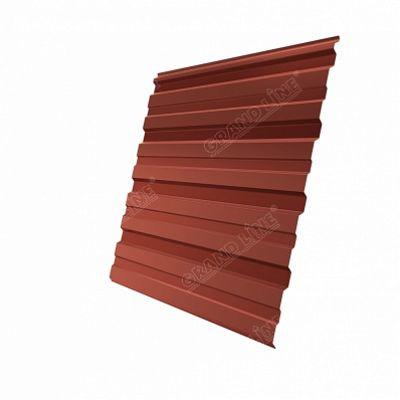 Профнастил С10 Grand Line PE, цвет RAL 8004 коричневая медь
