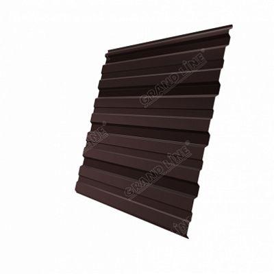 Профнастил С8 Grand Line PE, цвет RAL 8017 коричневый шоколад