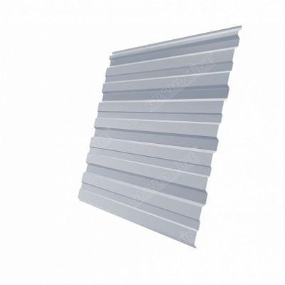 Профнастил С10 Grand Line PE, цвет RAL 9006 белый алюминий