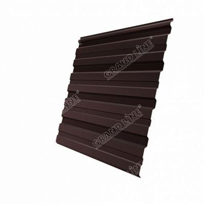Профнастил С10 Grand Line Atlas, цвет RAL 8017 коричневый шоколад