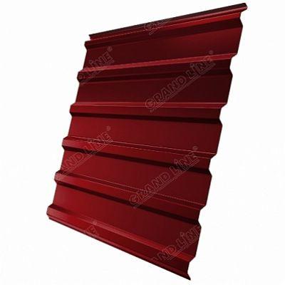 Профнастил С20 Grand Line Satin, цвет RAL 3011 коричнево-красный