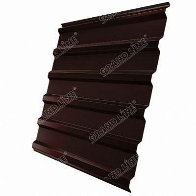 Профнастил С20 Grand Line Atlas, цвет RAL 8017 коричневый шоколад