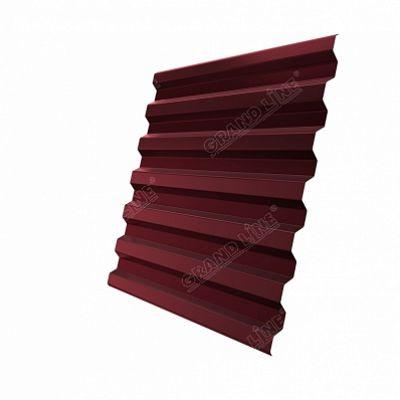Профнастил С21 Grand Line PE, цвет RAL 3005 красное вино