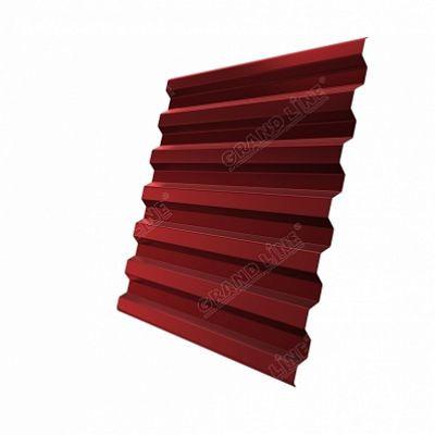 Профнастил С21 Grand Line Satin, цвет RAL 3011 коричнево-красный