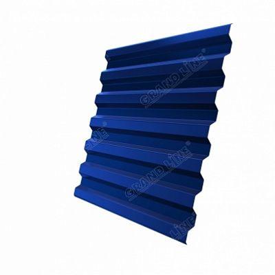 Профнастил С21 Grand Line Velur20, цвет RAL 5005 синий насыщенный