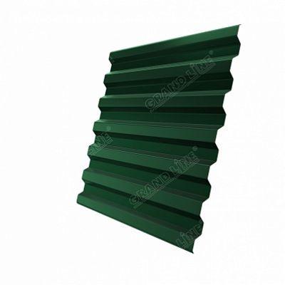 Профнастил С21 Grand Line Velur20, цвет RAL 6005 зеленый мох
