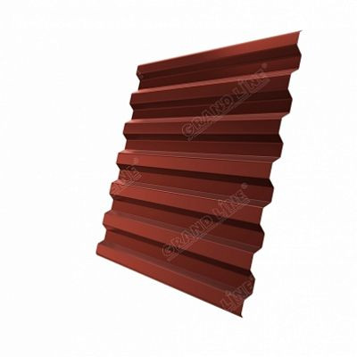 Профнастил С21 Grand Line Velur20, цвет RAL 8004 коричневая медь