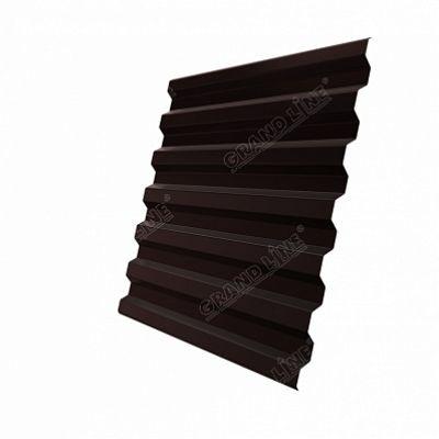Профнастил С21 Grand Line Quarzit, цвет RAL 8017 коричневый шоколад