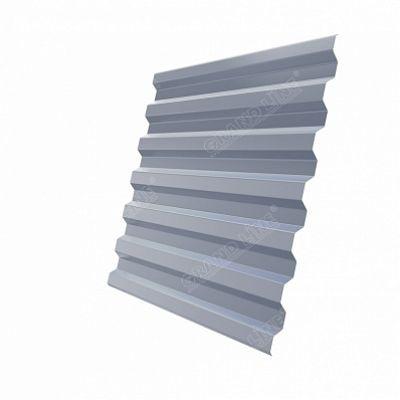 Профнастил С21 Grand Line PE, цвет RAL 9006 белый алюминий