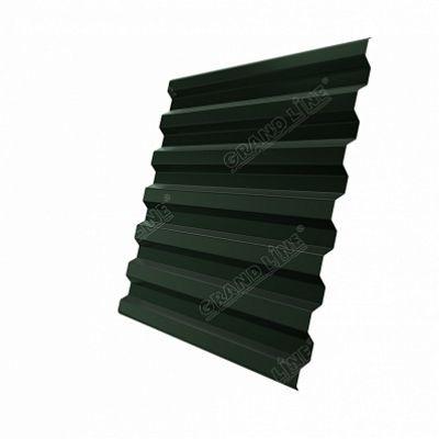 Профнастил С21 Grand Line Drap, цвет RAL 6020 зеленый хром