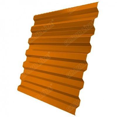 Профнастил С21 Grand Line Satin, цвет RAL 2004 чистый оранжевый