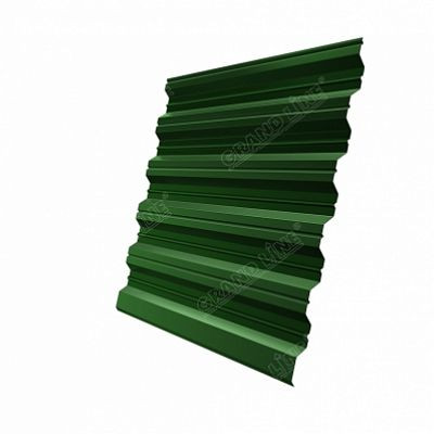 Профнастил С35 Grand Line PE, цвет RAL 6002 зеленый лист